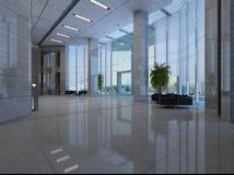 Tolkningkorridor i hotellet Arkivfoto