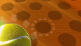 Tolkningvideo i HD av en tennisboll