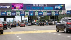 Toll booth on highway in Bogota Colombia Stock Photo