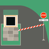 Toll booth stop sign Stock Photo