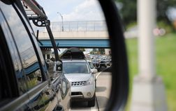 Toll Booth traffic Stock Photography