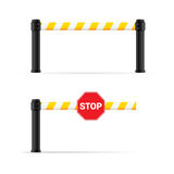 Toll booth vector on road safety Royalty Free Stock Photos