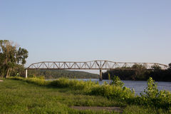 Toll Bridge over the Missouri River Royalty Free Stock Photos