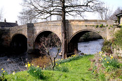 Toll bridge over the river Derwent. Royalty Free Stock Photo