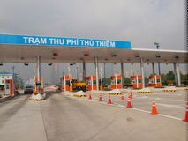 Toll Gate. In Ho Chi Minh City, Vietnam Royalty Free Stock Images