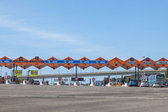 Toll gate at the highway Royalty Free Stock Image