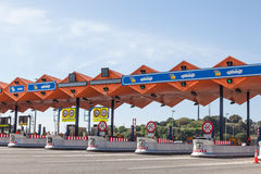 Toll gate at the highway Stock Images