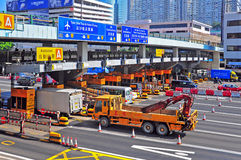 Toll gates at hung hom, hong kong Royalty Free Stock Photo