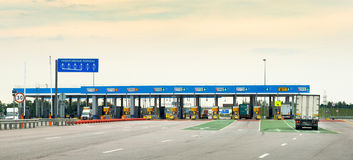Toll highway Stock Image