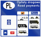 Toll Information In Poland Royalty Free Stock Image