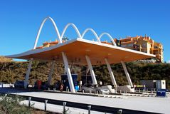 Toll Plaza, Costa del Sol, Spain. Stock Images