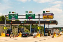 Toll Plaza on the PA Turnpike Stock Photo