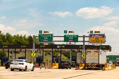 Toll Plaza on PA Turnpike Royalty Free Stock Image