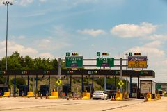 The Toll Plaza on PA Turnpike Royalty Free Stock Photos