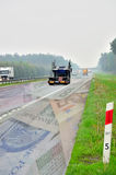 Toll road. The photo shows an abstraction for toll motorways in Poland Royalty Free Stock Image