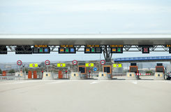 Toll Road Royalty Free Stock Photography
