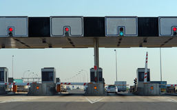 Toll Road Check Point Royalty Free Stock Images