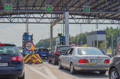 Toll Road Check Point Royalty Free Stock Photography