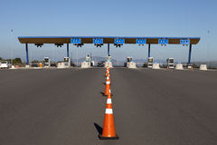 Toll road checkpoint Stock Photo