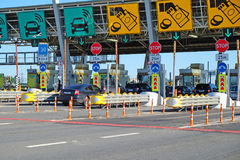 The toll road. Fare on the toll road royalty free stock images