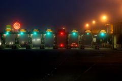 Toll road gates. In California Stock Photography