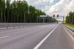 Toll road. Russian highway number M11 Stock Images