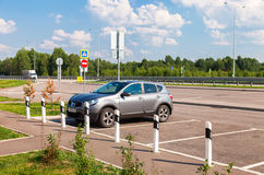 Toll road. Russian highway number M11 Royalty Free Stock Photo