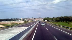 TOLL SEMARANG. Semarang City is the capital of Central Java Province, Indonesia and the fifth largest metropolitan city in Indonesia after Jakarta, Surabaya Royalty Free Stock Photography