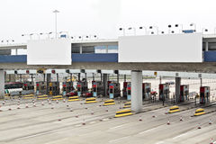 Toll station and Billboard Royalty Free Stock Photos