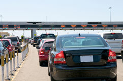 Toll Station Traffic Royalty Free Stock Photos