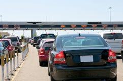 Toll Station Traffic. At the Bay Bridge to San Francisco Royalty Free Stock Photos