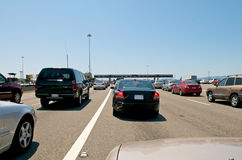 Toll Station Traffic Royalty Free Stock Photography