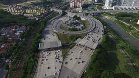 Tollbooth шоссе на взаимообмене Стоковое Изображение RF