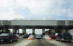 Tollbooth da ponte de memorial de Delaware Fotografia de Stock Royalty Free