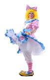 Tollende Clown Royalty-vrije Stock Fotografie