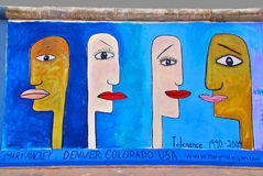 Tolleranza murala Fotografie Stock