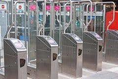 tollgate метро подземное Стоковое Изображение