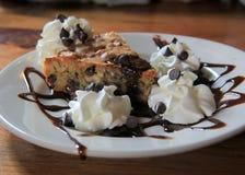 Tollhouse cookie pie Stock Image