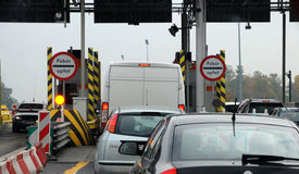 Tolls on the highway Royalty Free Stock Image