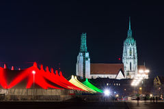 Tollwood winter festival in Munich Stock Photo
