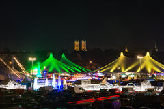 Tollwood winter festival in Munich Stock Photos