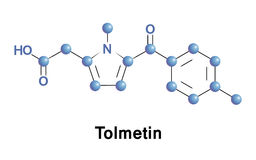 Tolmetin is a nsaid. Tolmetin is a non-steroidal anti-inflammatory drug of the heterocyclic acetic acid derivatives. It is used to reduce pain, swelling Stock Photography