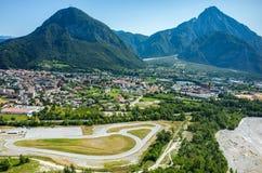 Tolmezzo-Stadt Stockbilder