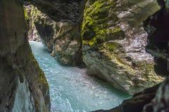 Tolmin gorge, nature, Slovenia Stock Photography