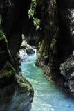 Tolmin gorge Stock Photo