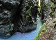 Tolmin gorge Stock Photos