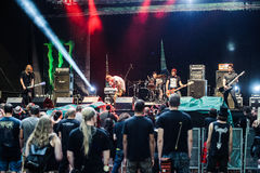 Tolmin, Slovenia - July 25th: American doom metal band North performing at Metaldays Festival on July 25th, 2016 in Tolmin, Sloven Stock Photos