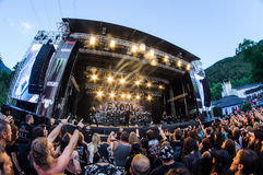 Tolmin, Slovenia - July 29th: American thrash metal band Exodus performing at Metaldays Festival on July 29th, 2016 in Tolmin, Slo. American thrash metal band Stock Photography