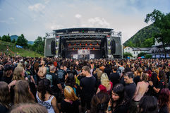 Tolmin, Slovenia - July 25th: Israelian death metal band Orphaned Land performing at Metaldays Festival on July 25th, 2016 in Tolm Royalty Free Stock Photography