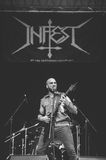 Tolmin, Slovenia - July 29th: Serbian death metal band Infest performing at Metaldays Festival on July 29th, 2016 in Tolmin royalty free stock photos